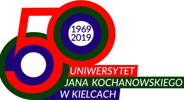 Logo 50cio lecia istnienia UJK w Kielcach