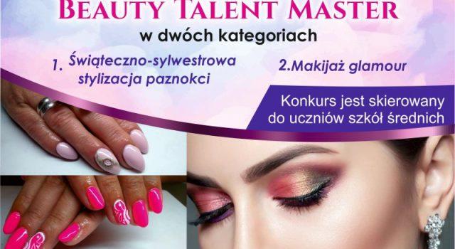Plakat reklamowy I Konkursu beauty talent show wraz z patronami