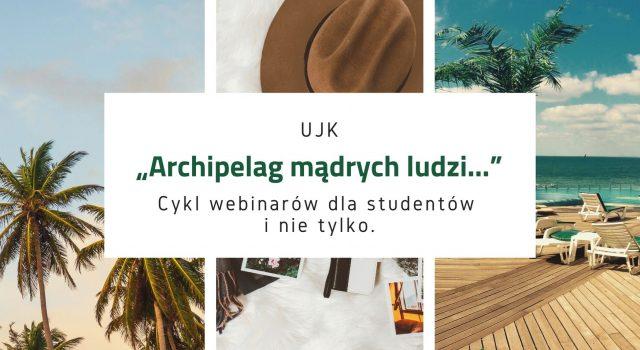 Zdjęcia przedstawiające plaże archipelagu. Promujący cykl webianrów z serii archipelag mądrych ludzi