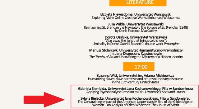 Screenshot z informacjami o Gabrieli Siembidzie oraz Sywlii Bieleckiej na Konferencji ATENA